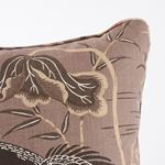 """So17293406 Lotus Garden 22"""" Pillow Mocha By Schumacher Furniture and Accessories 4"""