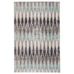 Jaipur Living Norwich Indoor Outdoor Geometric Gray Blue Area Rug  1