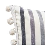 So7229314 Le Matelot Pillow Charcoal By Schumacher Furniture and Accessories 2