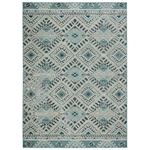 Nikki Chu by Jaipur Living Sax Indoor Outdoor Tribal Blue White Area Rug  1