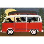 Trans-Ocean Frontporch Camping Trip 1474/24 Red Area Rug