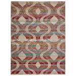 Nikki Chu by Jaipur Living Jive Indoor Outdoor Trellis Red Multicolor Area Rug  1
