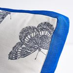 """So17943004 Burnell Butterfly 18"""" Pillow Black By Schumacher Furniture and Accessories 2"""