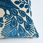So7297315 Pavone Velvet Pillow Peacock By Schumacher Furniture and Accessories 4