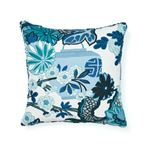 """So17731104 Chiang Mai I/O 18"""" Pillow China Blue By Schumacher Furniture and Accessories 2"""