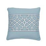 """So6618404 Don't Fret 18"""" Pillow Sky By Schumacher Furniture and Accessories 2"""
