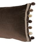 So6819911 Sophia Velvet Pillow Cocoa By Schumacher Furniture and Accessories 2