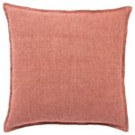 Blanche Solid Red Throw Pillow 22 inch 1