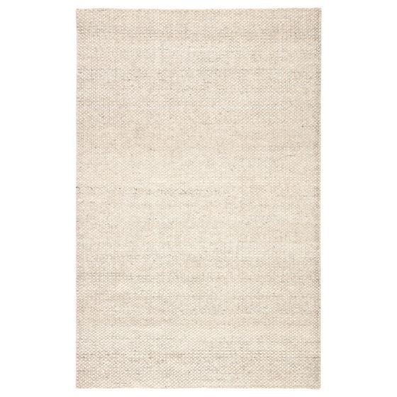 Jaipur Living Limon Indoor Outdoor Solid Ivory Gray Area Rug  1