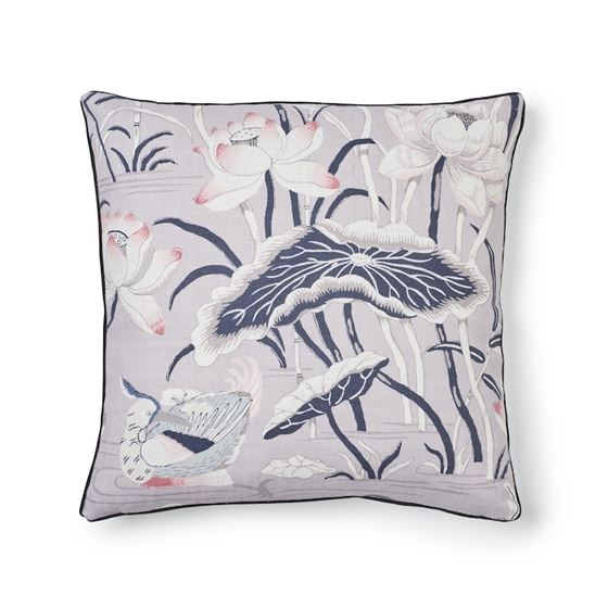 """So17293704 Lotus Garden 18"""" Pillow Lilac By Schumacher Furniture and Accessories 2"""