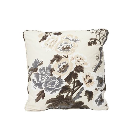 """So17445004 Pyne Hollyhock 18"""" Pillow Charcoal By Schumacher Furniture and Accessories 2"""
