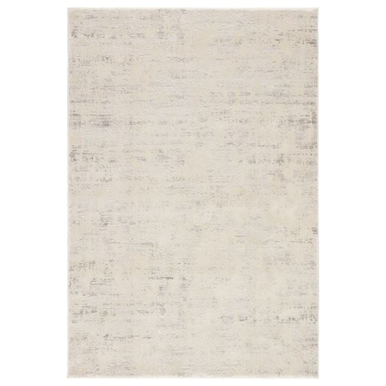 Jaipur Living Arvo Abstract Silver White Area Rug  1