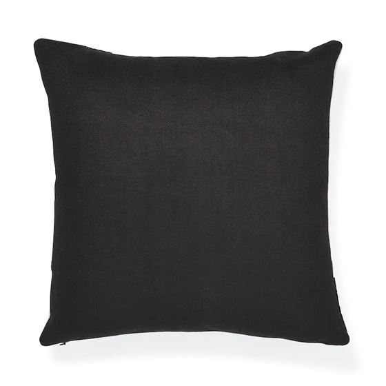 """So7569005 Binary Embroidery 20"""" Pillow Black By Schumacher Furniture and Accessories 2"""
