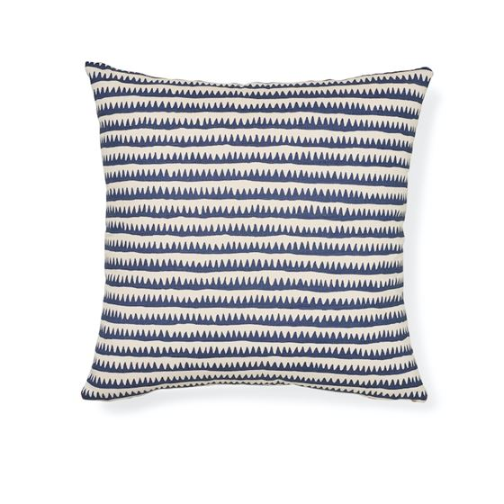"""So7447005 Corfu 20"""" Pillow Navy Multi By Schumacher Furniture and Accessories 2"""