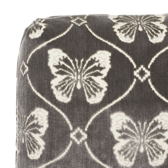 """So7296104 Papillion Velvet 18"""" Pillow Pewter By Schumacher Furniture and Accessories 2"""