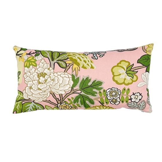 So17328018 Chiang Mai Dragon Pillow Blush By Schumacher Furniture and Accessories 2